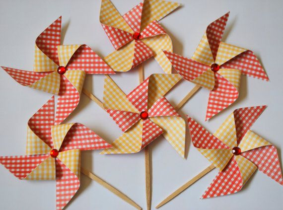 Hey, I found this really awesome Etsy listing at http://www.etsy.com/listing/157886070/pinwheel-cupcake-toppers-picnic-party