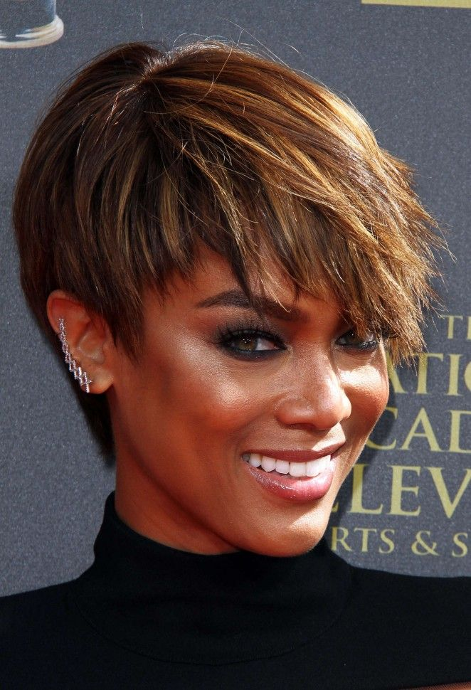 Cool 1000 Ideas About Tyra Banks Short Hair On Pinterest Haircut Short Hairstyles Gunalazisus