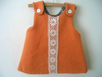 Warm Winter Woolen Blanket Dress lined with a Super Soft Vintage Sheet
