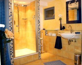 Google image result for for Yellow and blue bathroom ideas