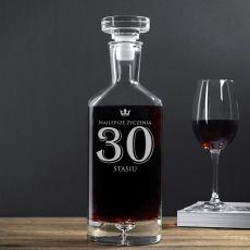 Grawerowana karafka do wina NAJLEPSZE ŻYCZENIA idealny na urodziny