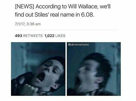 Teen Wolf - Season 6 - Stiles´ real name