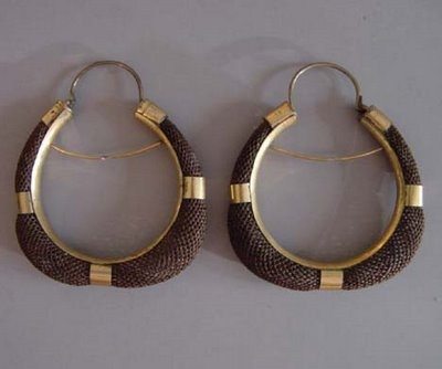 Victorian earrings made from human hair.
