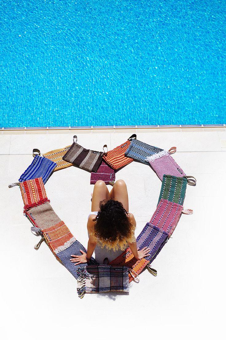 #SPLISHSPLASH #handmade #knit #beachbag #summer #boho #inspiration @ www.cleogkatzeli.com  http://www.gkatzeli.com/product-category/beachwear/bags/2-zippers-clutches/