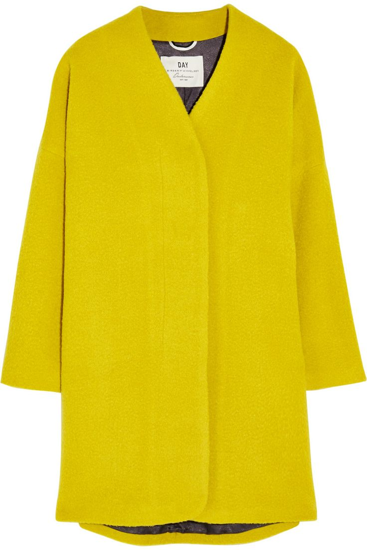 DAY Birger et Mikkelsen | Vivid oversized brushed-felt coat | NET-A-PORTER.COM