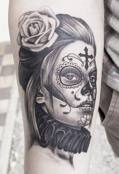 113 best muerte tattoos images on pinterest inspiration. Black Bedroom Furniture Sets. Home Design Ideas