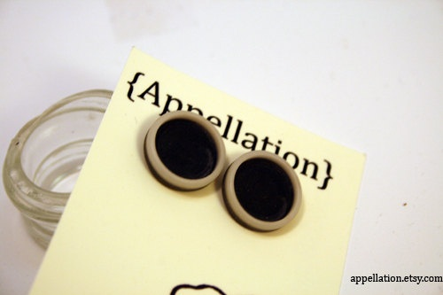 Upcycled button earrings by Appellation on Etsy, $5.00