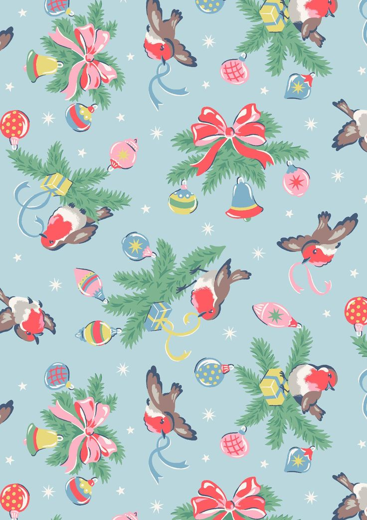 Robins | Make it a classic, jolly Christmas with pretty Robins inspired by vintage wrapping paper designs | Cath Kidston Christmas 2016 |