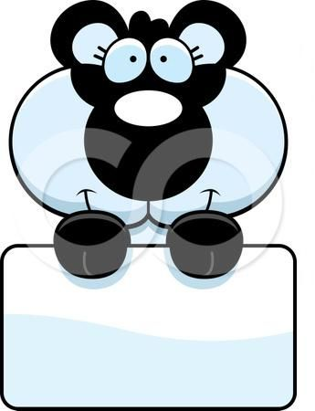 1091222-Clipart-Cute-Panda-Holding-A-Sign-Royalty-Free-Vector-Illustration.jpg (345×450)