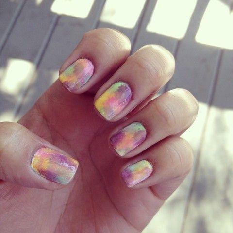 rainbow sorbet nails
