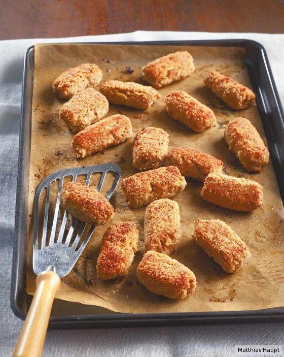 Krass kross und lecker würzig mit Parmesan und Oregano darin: Mit einem grünen Salat dazu wird daraus ein köstlicher secondo piatto (2. Gang).