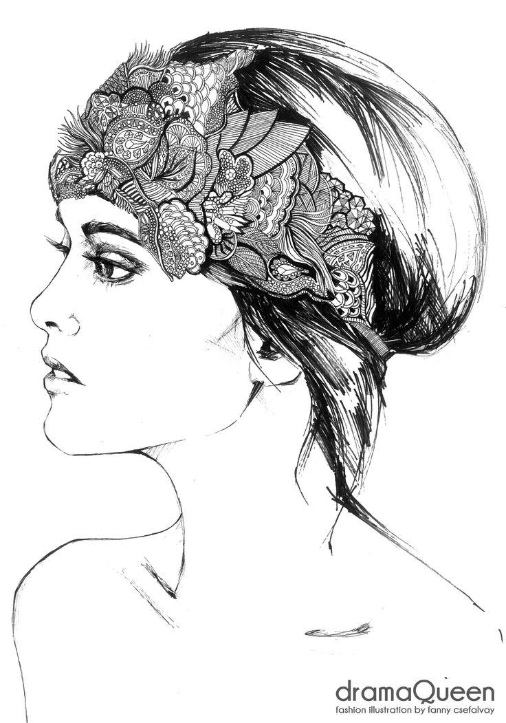 dramaQueen- Fashion illustration by Fanny Csefalvay