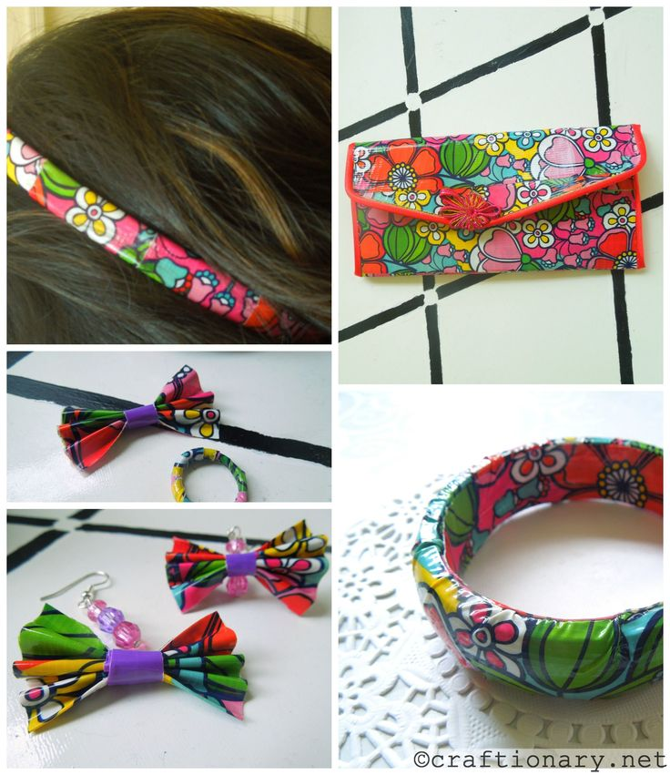 Duct tape crafts- DIY girly accessories