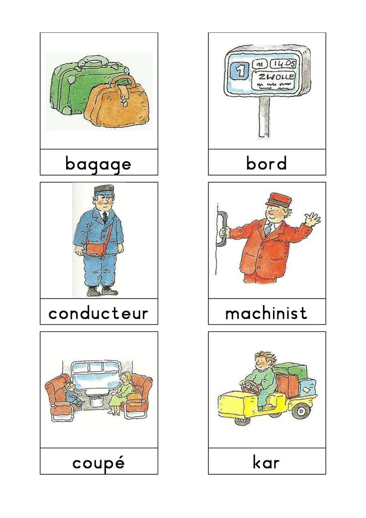 Woordkaarten Bas 'Het station' 1