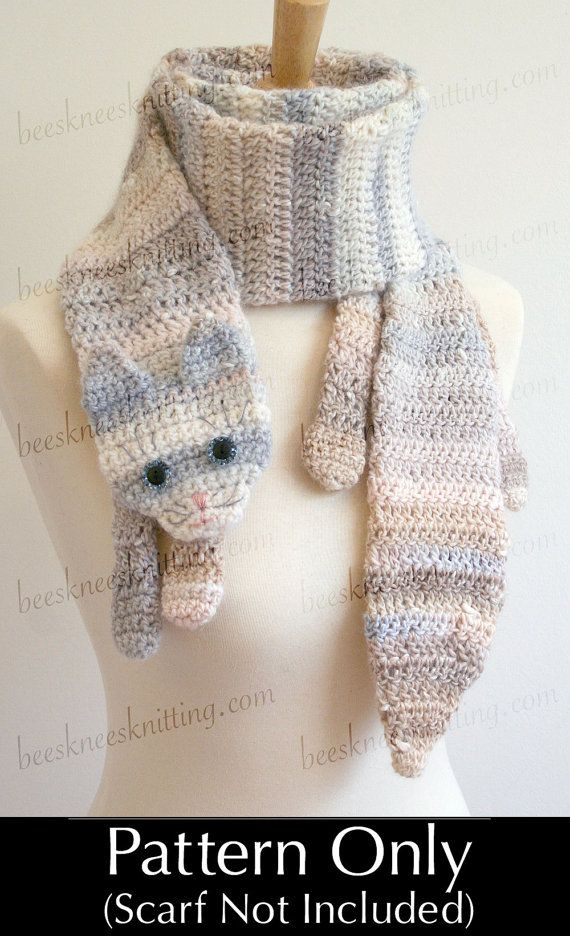 This is a CROCHET PATTERN to MAKE the scarf, NOT the actual scarf.    The Calico Cat Scarf Crochet Pattern.    Here's a cat of a different