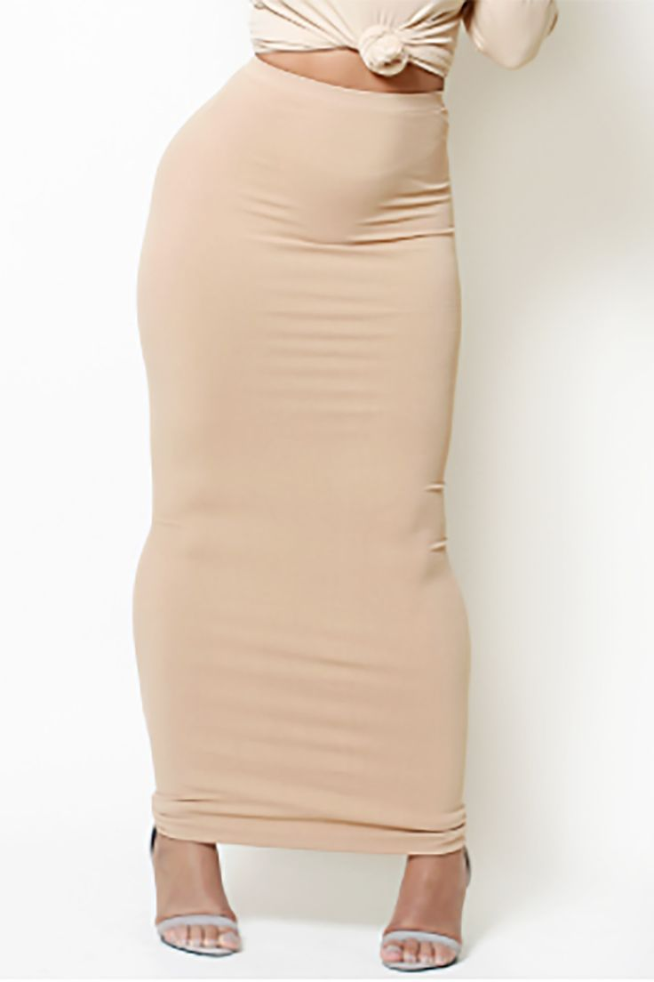 Camel Maxi Skirt/Tube Dress (fits up to plus)