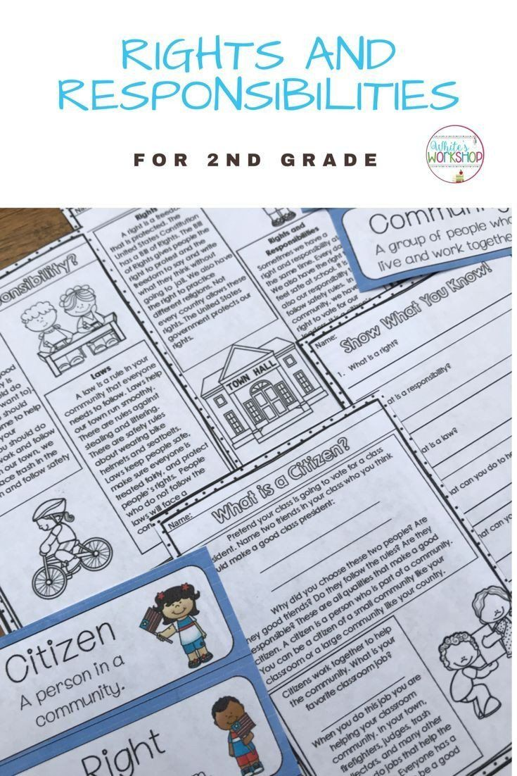 Rights and Responsibilities Worksheet Rights and Responsibilities for  Citizens 2nd…   Rights and responsibilities [ 1102 x 735 Pixel ]