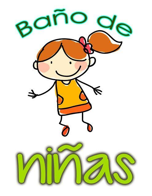Educacion Actualizada | Carteles para el baño del jardín de niñas y niños.