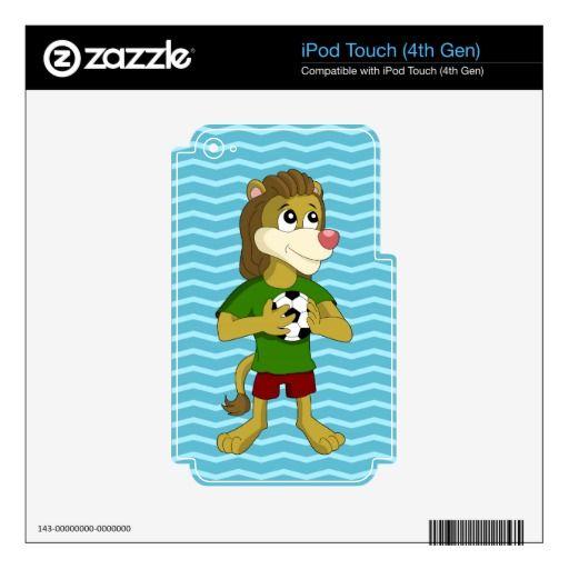 Cute lion cartoon iPod skin