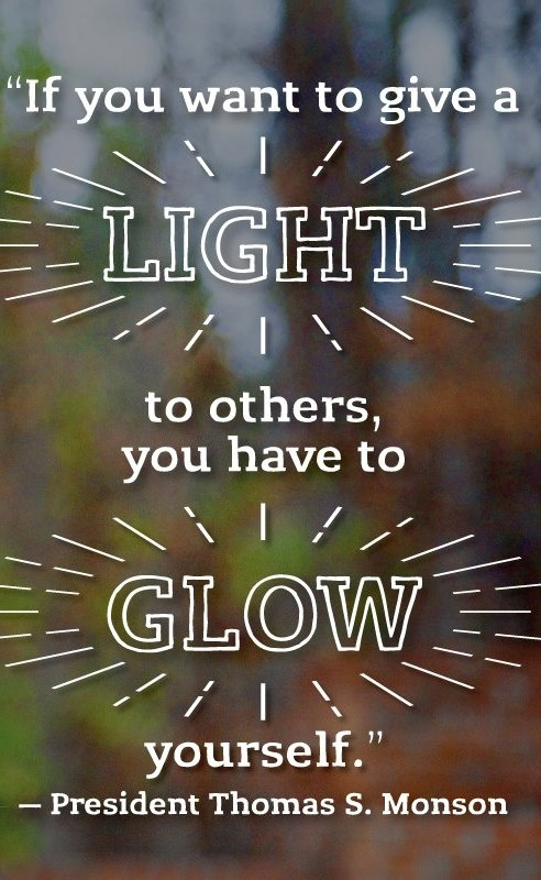 A good reminder that you can't give away what you don't have; you can't lift others unless you're climbing to higher ground yourself, and you can't light a fire in another soul unless it's first burning in your own. From President Monson's http://pinterest.com/pin/24066179228814793 April 1999 http://facebook.com/223271487682878 message http://lds.org/general-conference/1999/04/for-i-was-blind-but-now-i-see LIKE and SHARE if you agree.