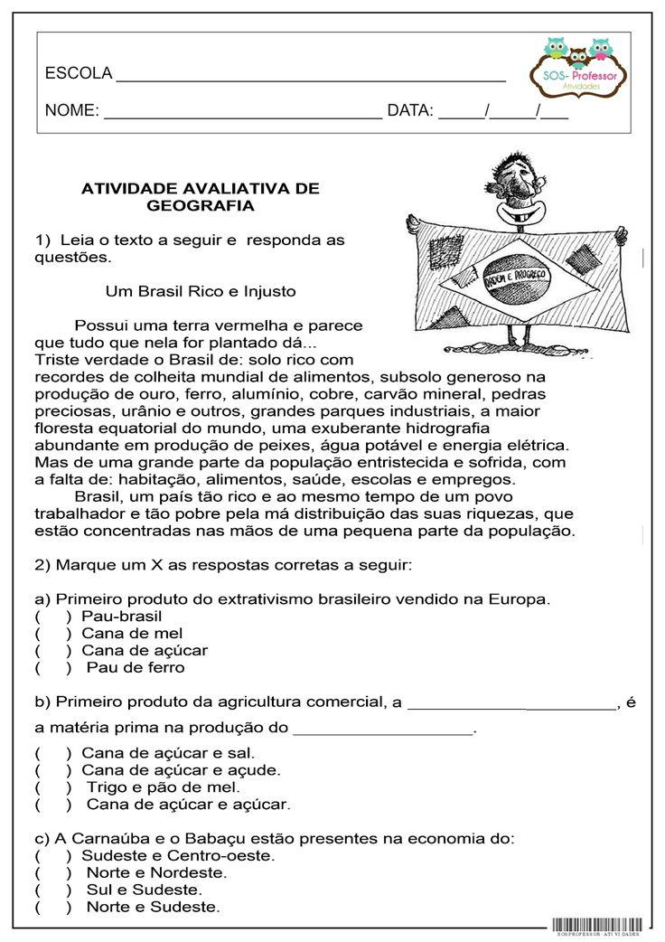 SOS PROFESSOR-ATIVIDADES: Geografia