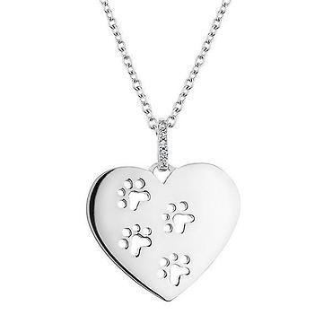 ASPCA® TenderVoices® Diamond Heart Paw Print Pendant