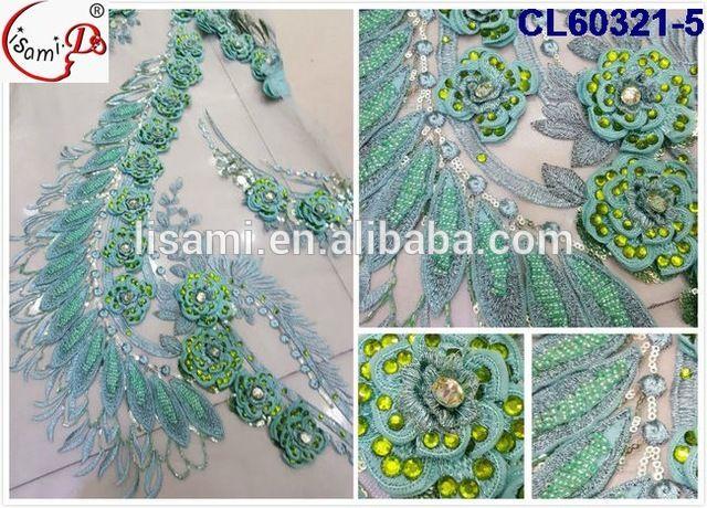 CL60321 Moda africana embriodery francés tela de encaje para el vestido de boda de lujo con gran flor del bordado 2016-en Tela bordada de Fabricado en m.spanish.alibaba.com.