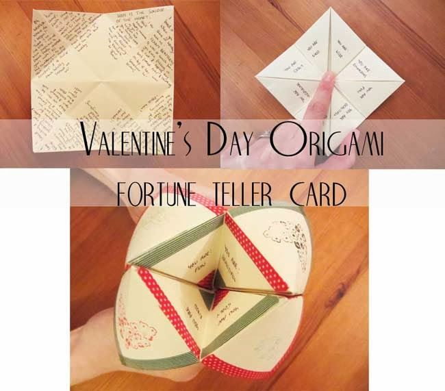 valentine origami tutorial lovers ring
