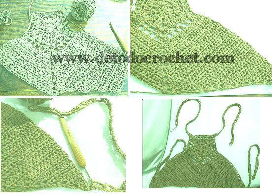Crop top crochet paso a paso