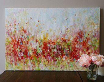 schilderen op doek, schilderen, origineel schilderij, Acryl schilderij, Abstract kunst schilderij, canvas kunst, bloem schilderen