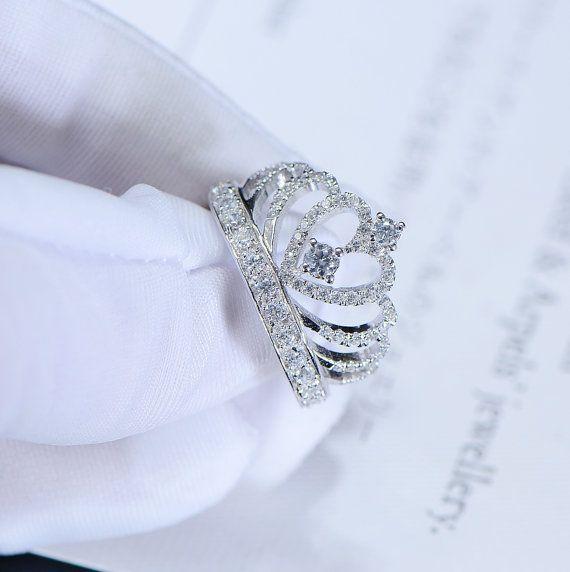 Prinzessin Krone Promise Ring Accent Tiara Ringe von FairyParadise