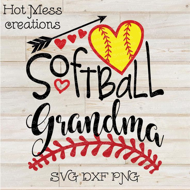Softball Grandma SVG DXF EPS PNG Digital Download
