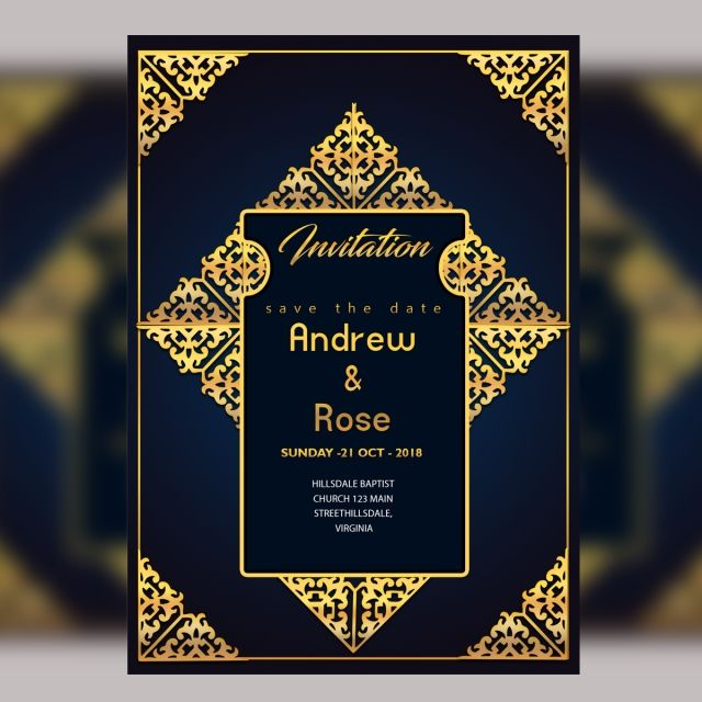 French Romantic Vintage Wedding Invitation And Rsvp Card Suite Ornate Baroque Royal Wedding Invitation Gold Wedding Invitations Custom Wedding Invitations