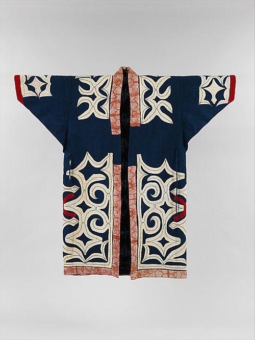 Ainu Robe. The Metropolitan Museum of Art.: Museums, Ainu Robe The, Arte Patterns, Metropolitan Museum, Ainu Patterns, Dresses, Costume Art, Kimonos