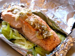 Salmon en Papillote (in a paper package)