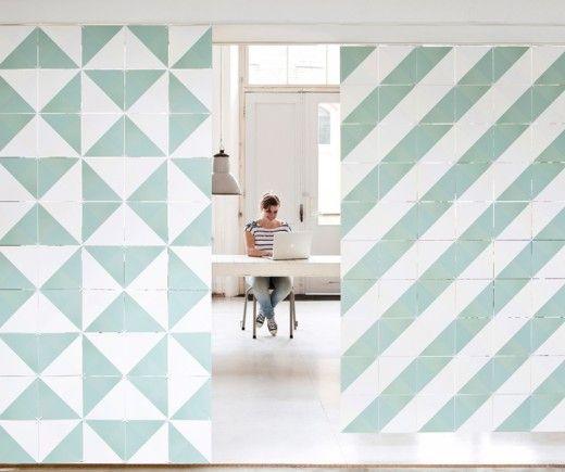 pattern on pattern.  very cute.: Decor, Design Inspiration, Geometric Pattern, Offices, Bedrooms Design, Ixxi Loco Studioboot03, Interiors, Studios Boots, Design Studios
