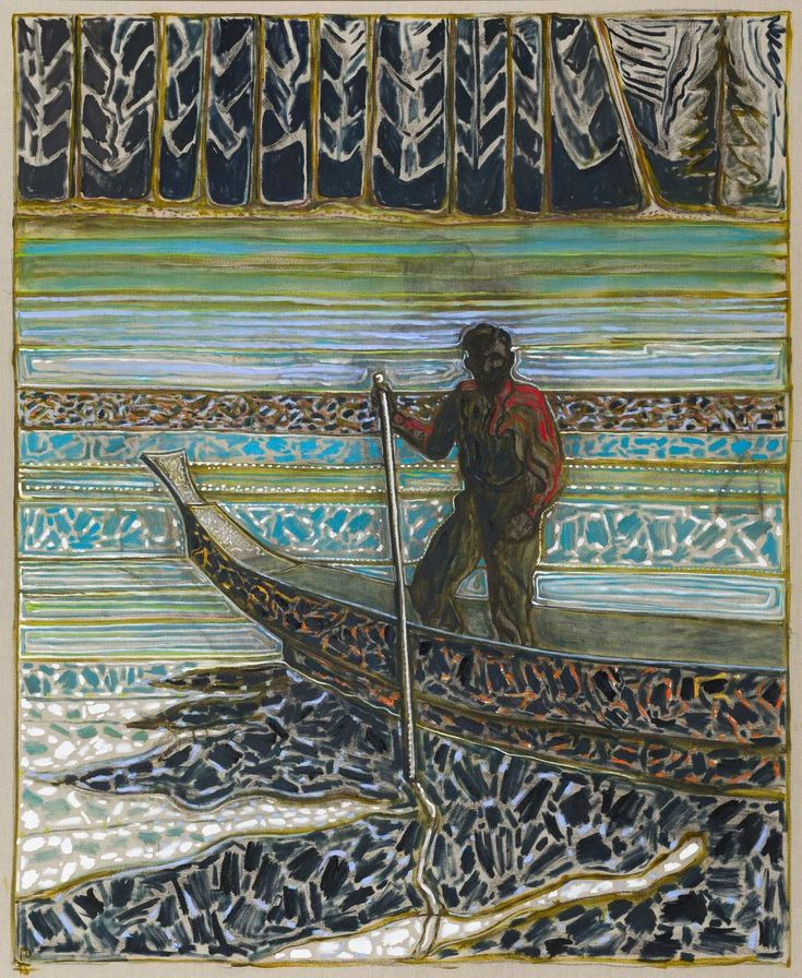 Billy Childish (British, b. 1959): sailish fisherman, 2015. Oil and charcoal on linen. Courtesy the artist and Carl Freedman Gallery, London, UK. Photo: Andy Keate.