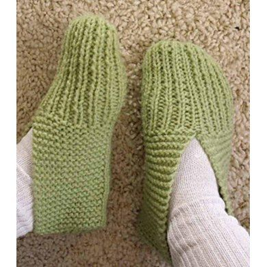 One of my most favourite things to knit...slippers just like Grandma used to make. I designed the pattern so any one can create them for adults from a woman's size 7-12 or a man's 6-11. You can also watch a my video on YouTube that shows how to make these slippers from casting on to sewing up the seams here: How to Knit Slippers for Children and Adults