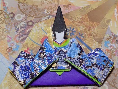 折り紙で雛祭り 華やかなお雛様 顔の折り方作り方 Origami Hina Doll - YouTube