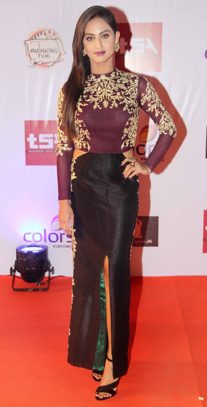 Krystle D'Souza at the Television Style Awards.