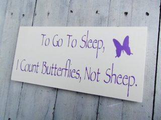 Butterfly Nursery Theme, Art, baby girls woodland art To go to sleep, I count BUTTERFLIES, not sheep via Etsy
