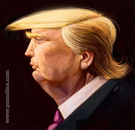caricatures of Donald Trump - Google Search
