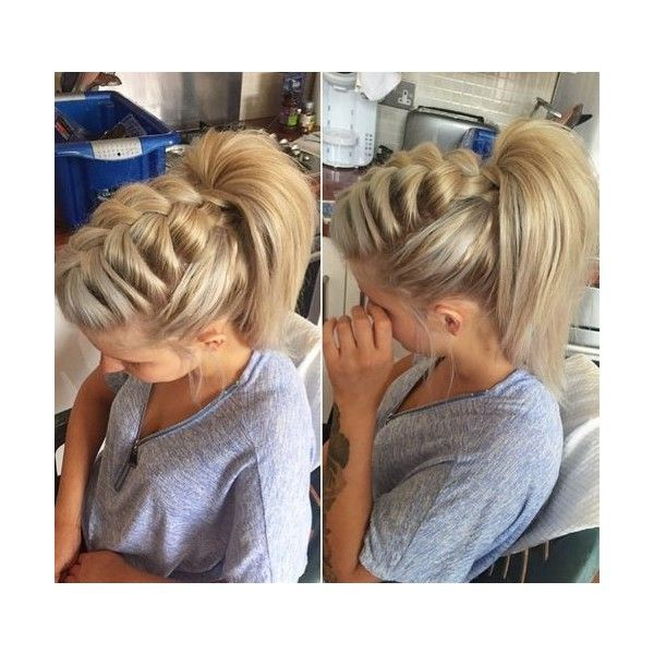 Braided Ponytail Ideas: 40 Cute Ponytails with Braids ❤ liked on Polyvore featuring accessories