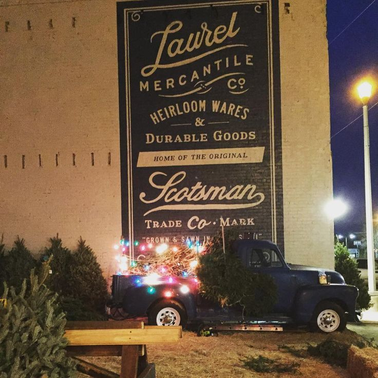 Fresh cut Christmas trees for sale at your Laurel Mercantile. 6ft-9ft Frazier Firs, live garland cut to your preference and wreaths in various sizes. #shoplocal