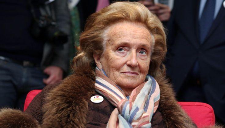 Bernadette Chirac reçue par Brigitte Macron à l'Elysée
