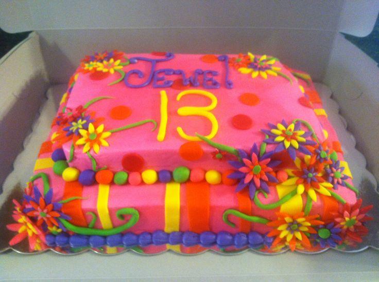 Jewel S Neon Cake Cakes I Ve Made 13 Birthday Cake