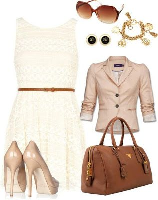 cute white lace dress with jacket