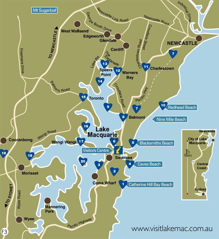 Top 20 Sights - Lake Macquarie NSW
