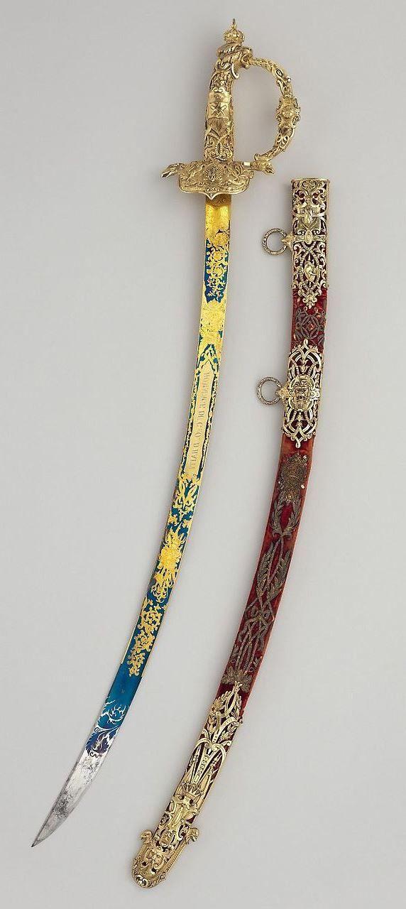 Sword with Scabbard of Faustin I (1782–1867), Emperor of Haiti. Maker: Robert Mole (British, Birmingham, 1800–1856). Dated: 1850.