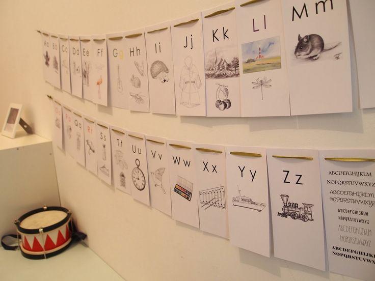 #alphabet #DIY-Challenge #40: Das Alphabet | Die Buchstabenwand | Lesen Lernen für Kindergartenkinder